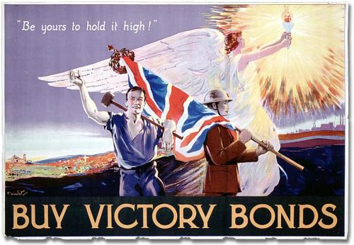 Be-Yours-to-Hold-Hight War Bonds Poster WWI