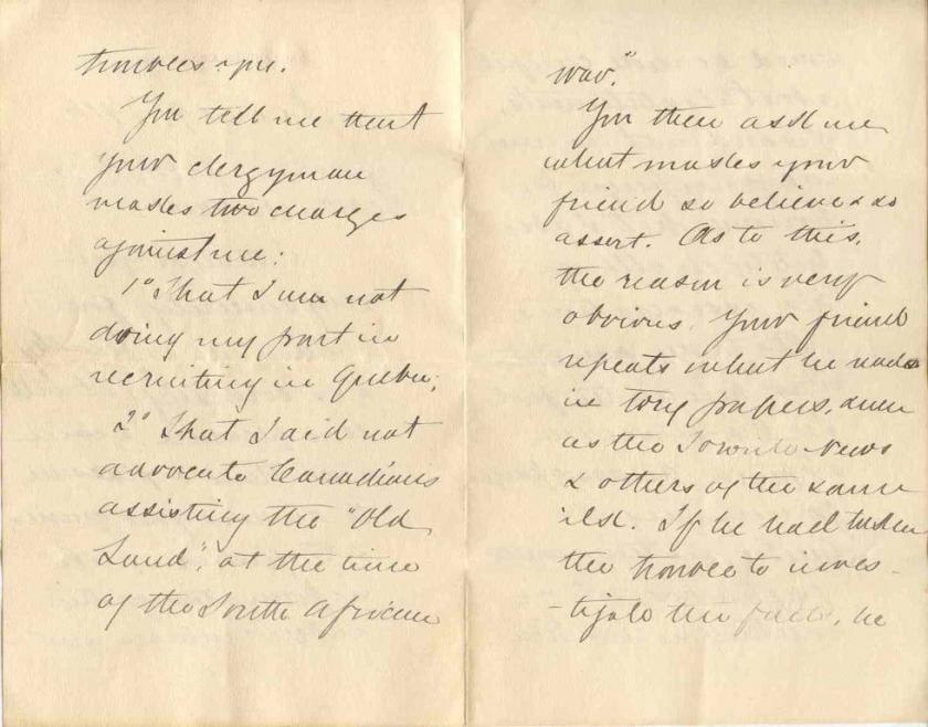 Letter from Sir Wilfrid Laurier to Mrs. H. T. Anderson