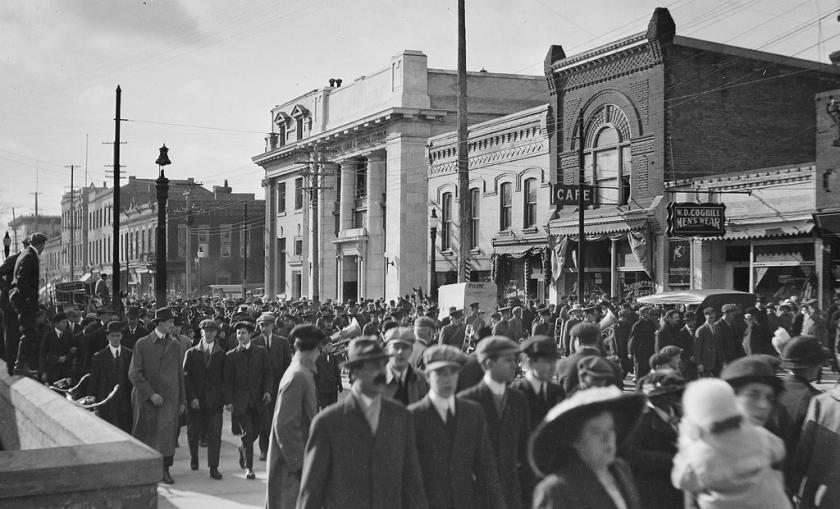 Brantford WWI Recruiting October,1914